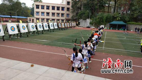 我区射箭运动员在体育少年儿童阳光全市大赛上电子竞技经理中文版下载图片